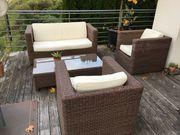 Rattan Lounge Garnitur Gartenmöbel