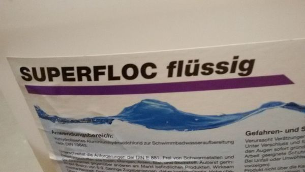 Poolpflegemittel Flockungsmittel pH minus Mittel