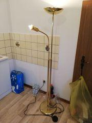 Stehlampe vergoldet