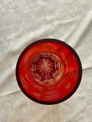 Rot Orange Vase aus Glas -