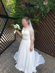 Wunderschönes Brautkleid in weiß