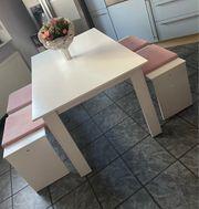 Esszimmer Tisch Sitzbank 2x Sitzauflagen