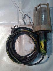 Alte Werkstattlampe Arbeitslampe Handlampe Kabellampe