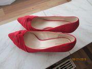 neue rote Damen pumps gr