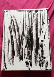 Handbemalte Leinwand Abstrakt shadow Acryl