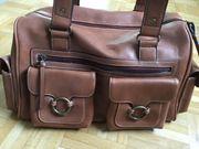 Handtasche Shopper Weekender Reisetasche braun