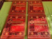 4x antike Bücher Meisterwerke der