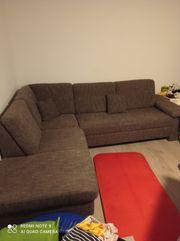 Eckkombination Sofa braun Stoff gebraucht