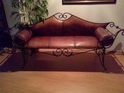 Designer Leder Couch mit Eisen