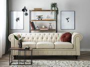 3-Sitzer Sofa Polsterbezug beige CHESTERFIELD neu