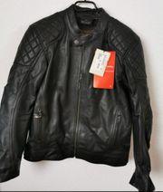 Motorrad Jacke Leder mit Protektoren