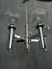 Space Age Lampe chrom selten
