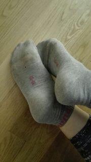 Duftsöckchen getragene Socken