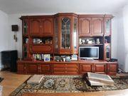 Wohnwand Wohnzimmerschrank kirschbaumfarben