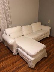 Ikea sofa Landschaft weiß mit