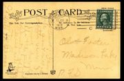 Antike Postkarten USA mit Briefmarke