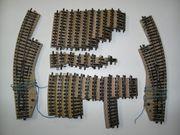 3 Märklin H0 M-Gleis Bogenweichen