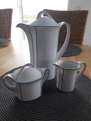 Kaffeekanne Milchkanne und Zuckerdose Winterling