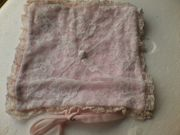 Vintage - Tasche - Beutel - Taschentuch Tasche - rosa
