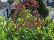 Garten Schriftzug Rost Optik