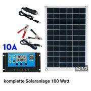 komplette Solaranlage 100 Watt Solarpanel