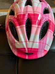 Abus Kinder Fahrradhelm rosa weiß