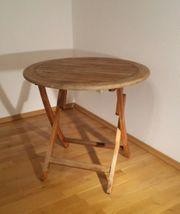 Runder Teak-Gartentisch - Durchmesser 80 cm -