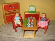 Eßzimmermöbel Rülke Puppenhaus-Puppenstube-Puppenmöbel
