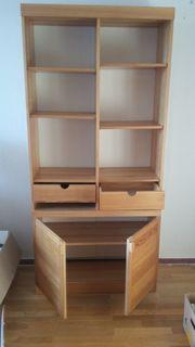 2 x Schrankregal aus Holz