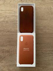Apple iPhone XS Ledercase - Sattelbraun -