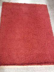 Hochflorteppich rot 120x170