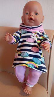 Puppenkleidung 2-teilig langarm Einhorn