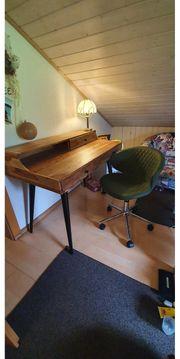 Vintage Schreibtisch und Stuhl