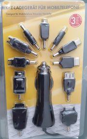 KFZ Ladegerät für Mobiltelefone mit