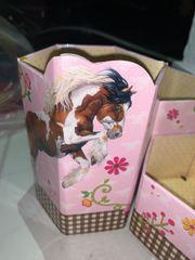 3 Stifte Behälter Pferde