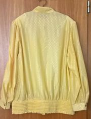 Gelbe Vintage-Bluse Gr 40