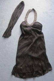Gr 40 schwarzes Seiden-Kleid mit