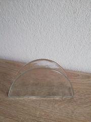 Glas Serviettenhalter