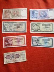Alte Geldscheine Jugoslawien