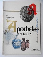 Baden Das deutsche Apothekenwesen - Tradition