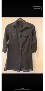 Schöne lange Bluse Farbe schwarz