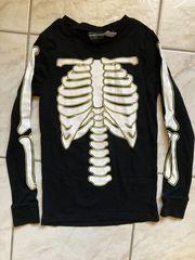 Schlafanzug Skelett nachtleuchtend Gr 134