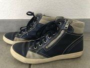 Richter Schuhe hohe Sneaker Glattleder