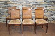Antike Jugendstil Stühle und dazugehöriger