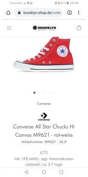 Schuhe Chucks Convers in Rot