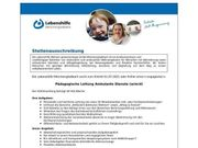 Pädagogische Leitung Ambulante Dienste m