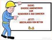 Handwerker-Betonsockel Entfernen