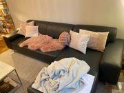 Couch zu verschenken - Anthrazit- Kunstleder