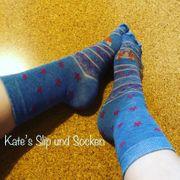 getragene Fuchs Socken