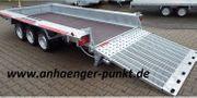 PKW 3- Achser Tieflader Anhänger